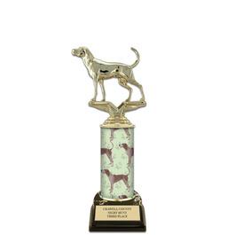 "10"" Black HS Base Award Trophy w/ Dog Column"