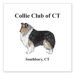 Square Dog Show Window Decal
