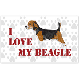 Rectangular Dog Show Window Decal
