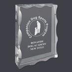 Rectangular Optical Crystal Dog Show Award