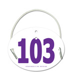 Arm Dressage Oval Dog Show Exhibitor Number w/ Elastic