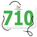 Custom Full Color Large Rectangular Dog Show Exhibitor Number w/ String