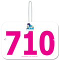 Custom Full Color Large Rectangular Dog Show Exhibitor Number w/ Hook