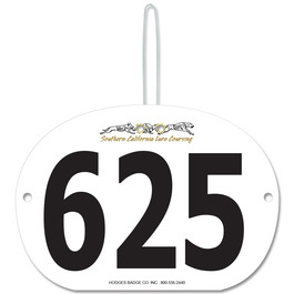 Indurotec(TM) Custom Full Color Large Oval Dog Show Exhibitor Number w/ Hook
