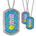 Full Color GEM Happy Birthday Dog Tag