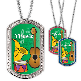 Full Color GEM Music Dog Tag