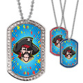 Full Color GEM Pirate Dog Tag