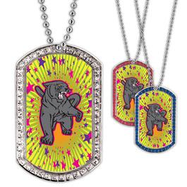Full Color GEM Panther Dog Tag