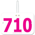 Large Rectangular Fair, Festival & 4-H Award Exhibitor Number w/ Hook