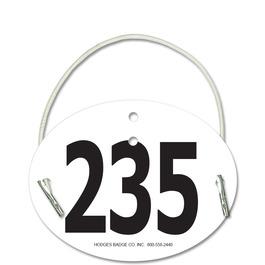 Indurotec(TM) Custom Full Color Oval Exhibitor Number w/ Elastic