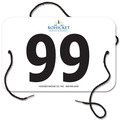Indurotec(TM) Custom Full Color Small Rectangular Exhibitor Number w/ String