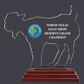 Goat Shaped Fair, Festival & 4-H Acrylic Award Trophy