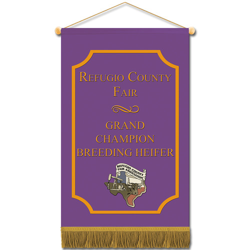 cloth mini fair banner w   fringe