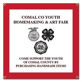 Custom Vinyl Fair, Festival & 4-H Banner - Square