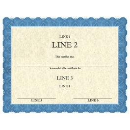 Custom Award Certificates - Classic Blue Design