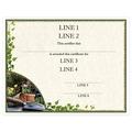 Custom Fair, Festival & 4-H Award Certificate - Gardening