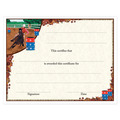 In-Stock Full Color Horse Show Award Certificate - Barrel Racing Design