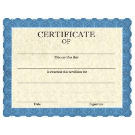 Stock Certificates - Classic Blue Design