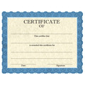 Stock Certificates - Classic Blue Design