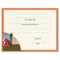 In-Stock Full Color Fair, Festival & 4-H Award Certificate - Red Barn Design
