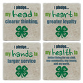 4-H Pledge Tumbled Stone Coasters