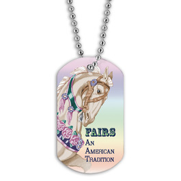 Full Color Carousel Dog Tag