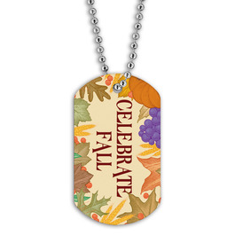 Full Color Celebrate Fall Dog Tag