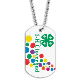 Full Color Cloverbud Dog Tag