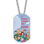 Full Color Family Friends Dog Tag