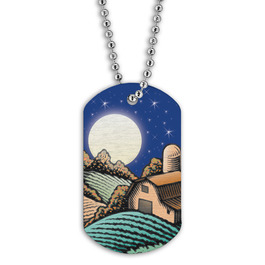 Full Color Harvest Moon Dog Tag
