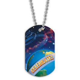 Full Color Planets Dog Tag
