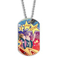Full Color Rollercoaster Dog Tag