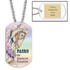 Personalized Carousel Dog Tag w/ Engraved Plate