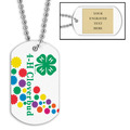 Personalized Cloverbud Dog Tag w/ Engraved Plate