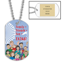 Personalized Family Friends Dog Tag w/ Engraved Plate