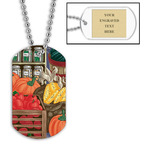 Personalized Fruits & Veggies Dog Tag w/ Engraved Plate