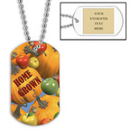 Personalized Home Grown Dog Tag w/ Engraved Plate