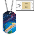 Personalized Planets Dog Tag w/ Engraved Plate
