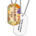 Personalized Celebrate Fall Dog Tag w/ Print on Back