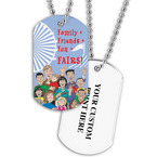 Personalized Family Friends Dog Tag w/ Print on Back