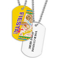 Personalized Fiesta Dog Tag w/ Print on Back