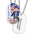 Personalized Freedom Dog Tag w/ Print on Back