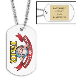 Custom Fair, Festival & 4-H Dog Tags w/ Engraved Plate