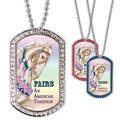 Full Color GEM Carousel Dog Tag