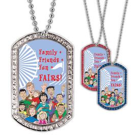 Full Color GEM Family Friends Dog Tag