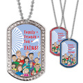 Full Color GEM Family Friends Dog Tag