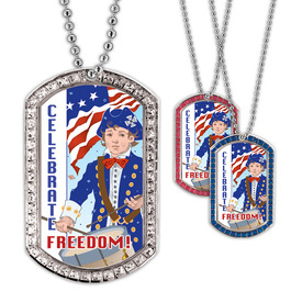 Full Color GEM Freedom Dog Tag
