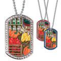 Full Color GEM Fruits & Veggies Dog Tag