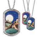 Full Color GEM Harvest Moon Dog Tag