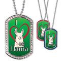Full Color GEM I Love My Llama Dog Tag